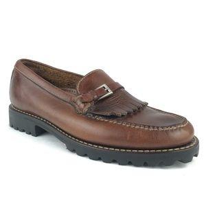 Cole Haan Leather Kiltie Loafers Slip On Career 7